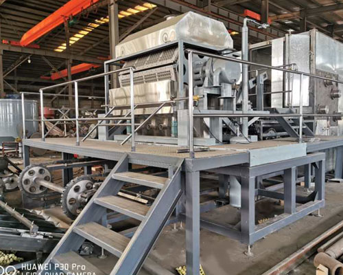 Beston BTF 4-8 линия для производства яичных лотков готов к отправке в Россию